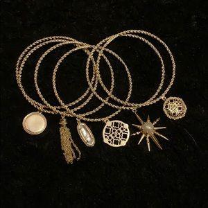💕KENDRA SCOTT 6 piece gold REED bracelet set